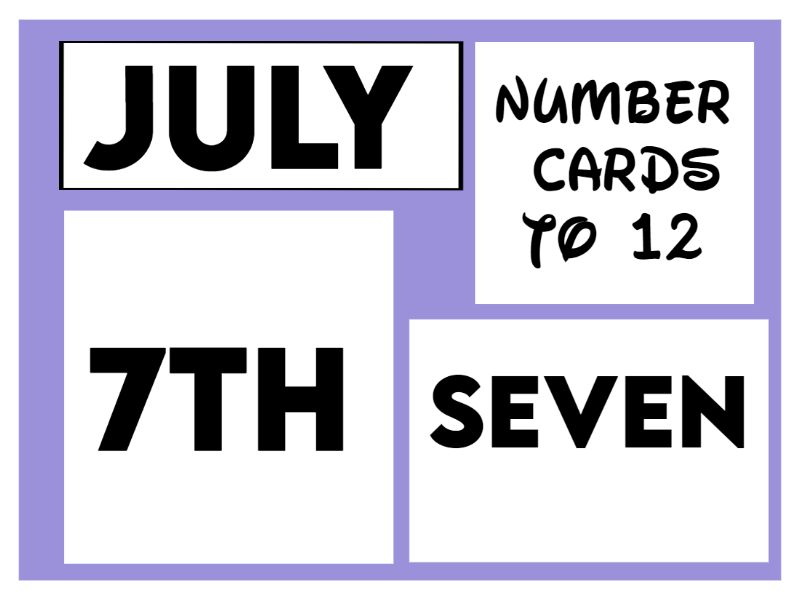 Number Cards to 12 on Notepads