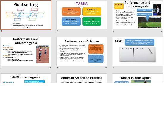 Goal setting and SMART targets, GCSE PE