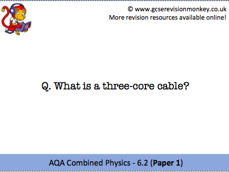 Revision Cards - AQA Combined Physics 6.2