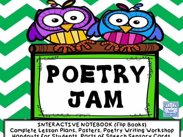 Poetry Jam-Interactive Notebook-Flip Book (Grades 5-8)