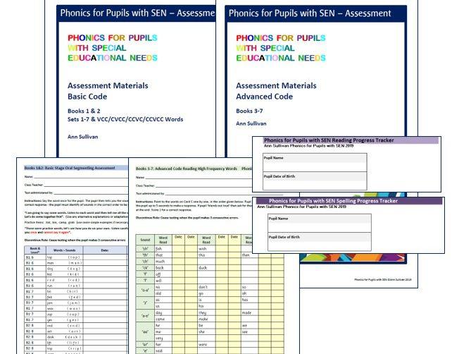 Basic & Advanced Code Testing & Assessment Materials and Progress Tracker - Phonics for SEN