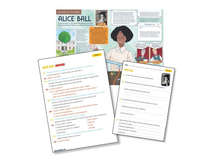 P7 Reading Science: Historical scientist Alice Ball