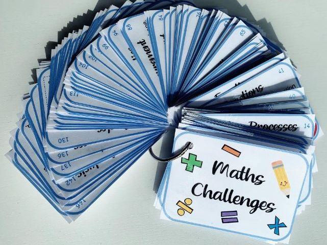 Maths Homeschool Challenge Cards