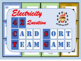 Current Electricity  KS3 -42 Question Card Sort Team Game