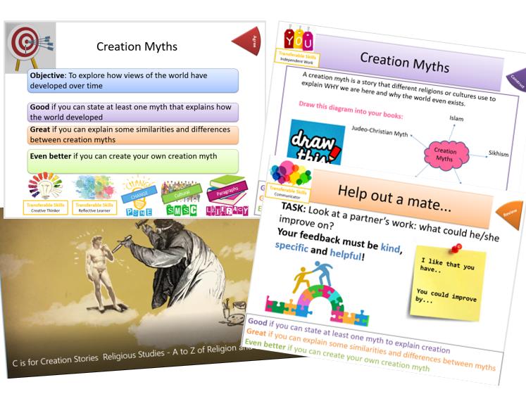 Ancient Beliefs: Creation Myths - Whole Lesson