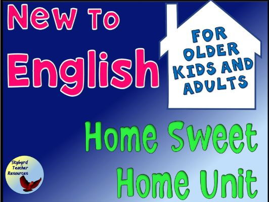House Vocabulary Unit for ESL EFL English Language Learners