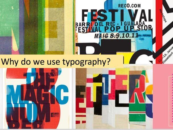 Typography/ Graphics lesson