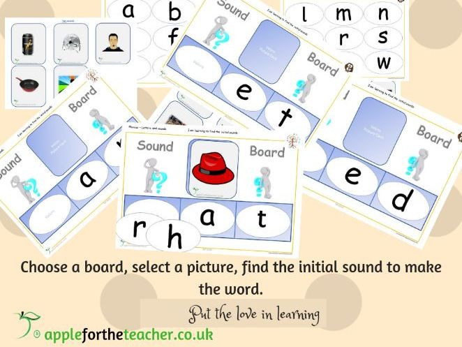 Phonics Initial Sound boards CVC words