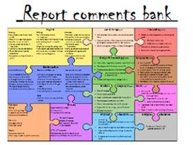 Report comments; Year 5 Science. Drop down personalised options gender and differentiated.