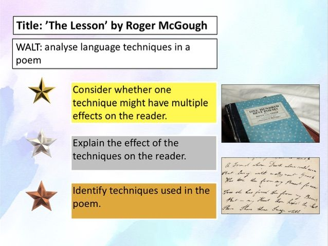 Poetry analysis for beginners - The Lesson by Roger McGough