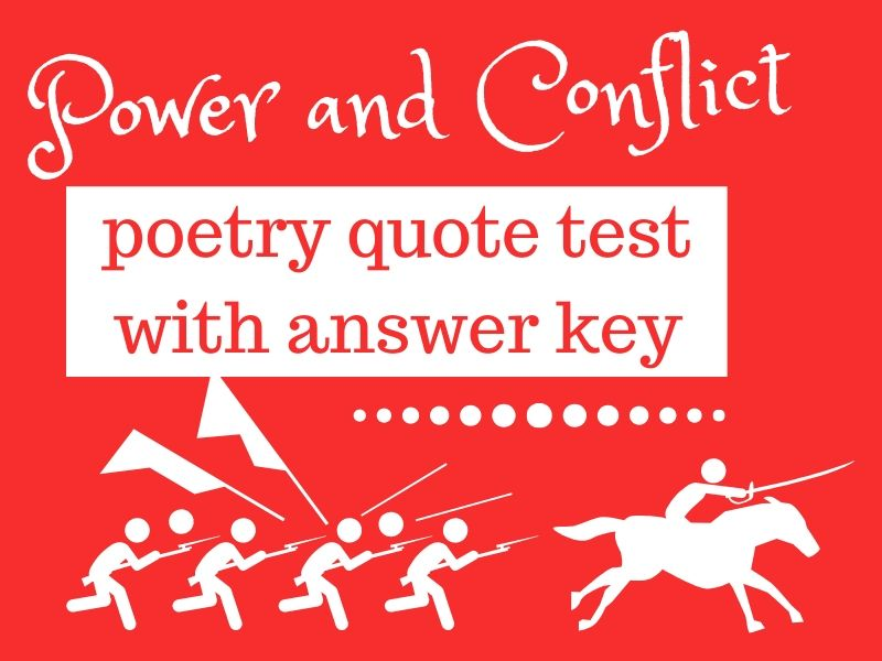 AQA Power and Conflict Poetry Quote revision quiz/test grid (full answer key)