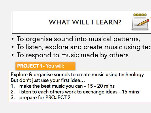 GarageBand Project, Instructions and Music Assessment Rubric