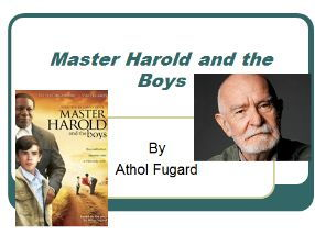 Analysis of the play 'Master Harold and The Boys'