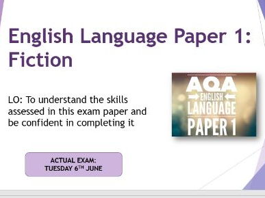 AQA English Language Paper 1 exam practice
