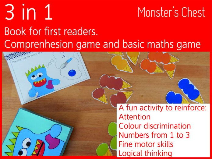 A fun game for first readers, work colours and numbers