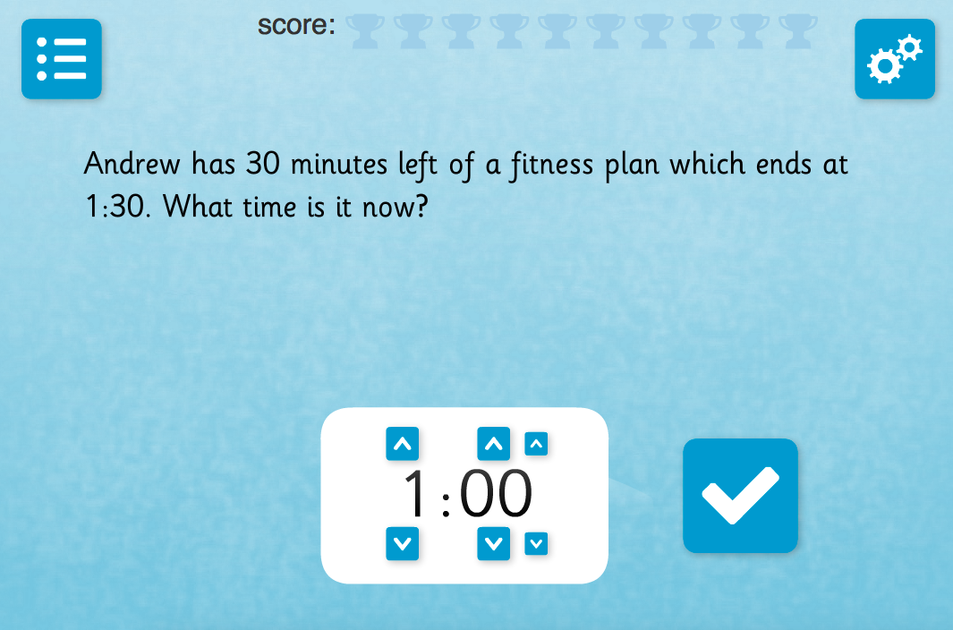 Time Interval Questions: Set B - Interactive Activity - KS2 Measurement
