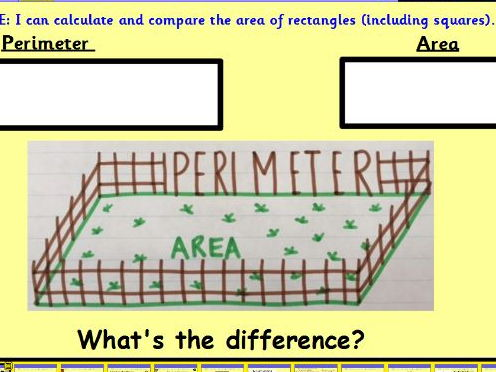 Area of rectangles and squares Lesson Pack x 3 - Plans, presentation and all resources.