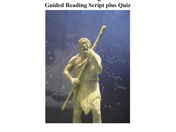 Odysseus and the Cyclops lesson plan, guided reading script & quiz