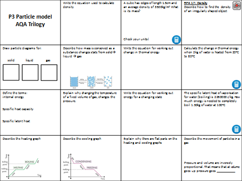 aqa trilogy p3 particle model revision by hephelumps teaching resources tes. Black Bedroom Furniture Sets. Home Design Ideas