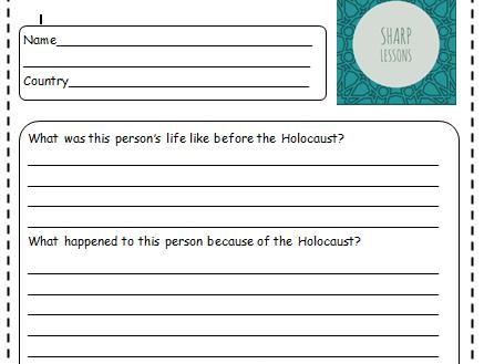 Holocaust Survivor Stories Homework