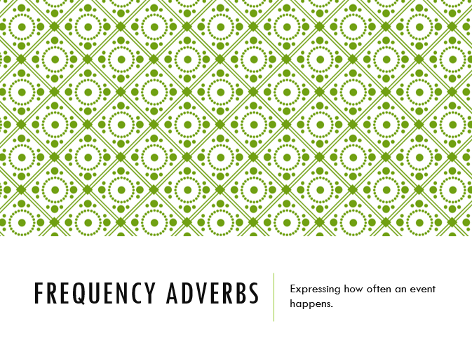 Frequency Adverbs TEFL