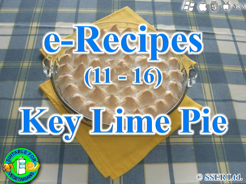 41.   Key Lime or Lemon Pie (e-Recipe)