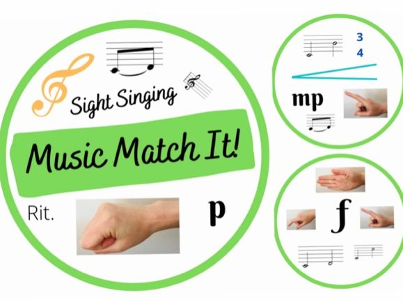 Music Match It Sight Singing Edition Music Dobble Style Card Game