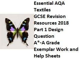 Insect Theme AQA Textiles GCSE 2018 - Essential Exemplar Design Question Revision Resources A*-A