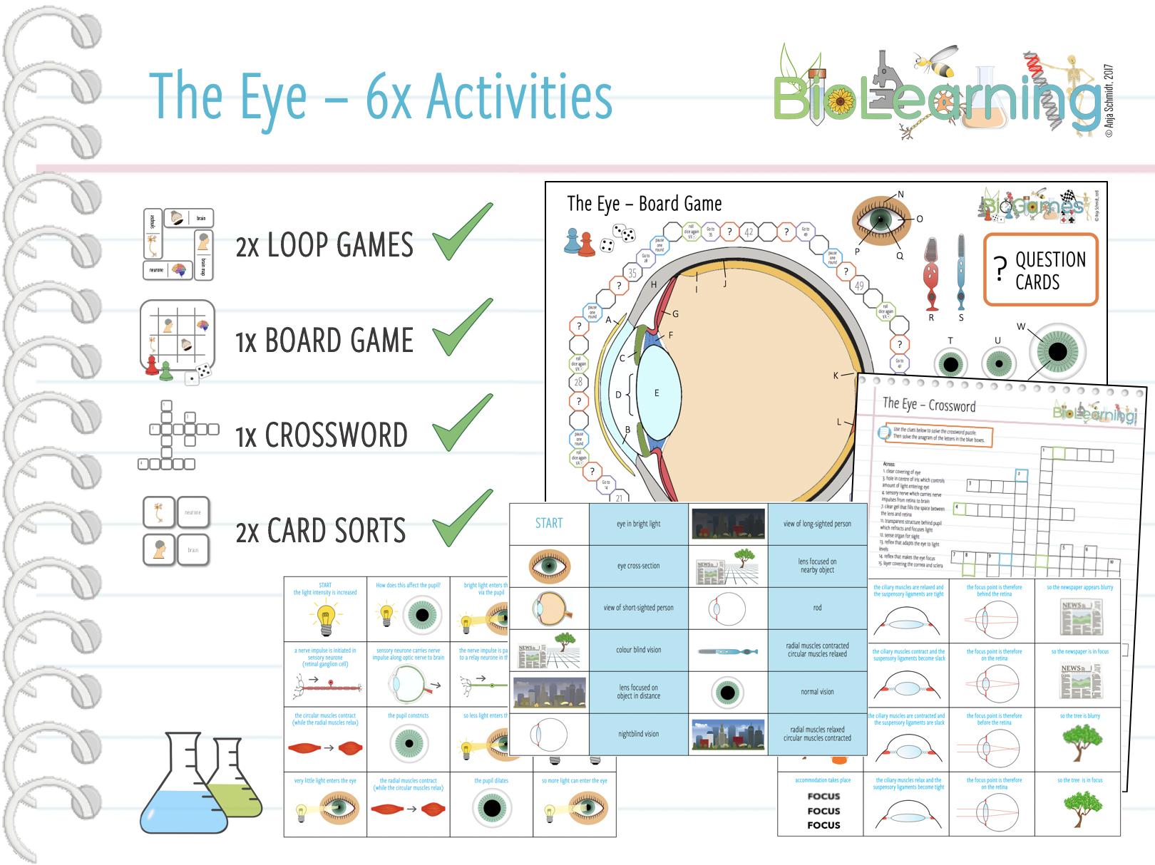 The Eye - 6x Activities Bundle (KS3/4)