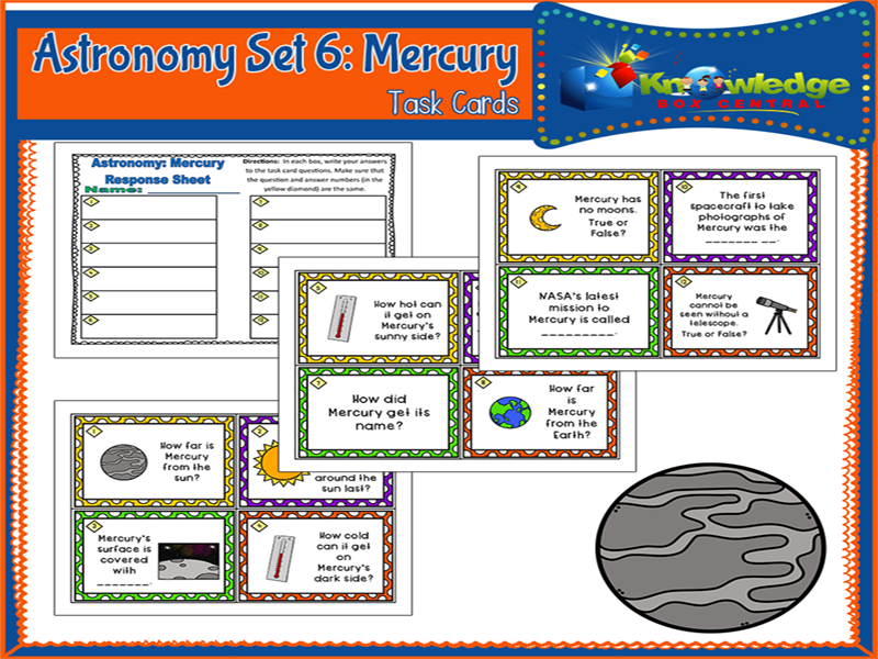 Astronomy Task Cards: Set 6: Mercury