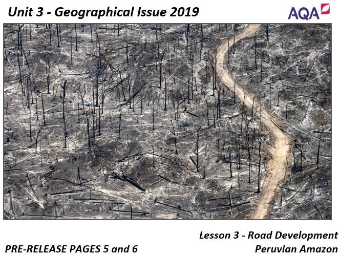 Unit 3 AQA Tropical Rainforests Pre Release 2019 Student Workbook and Teacher Slide Pack (Complete)