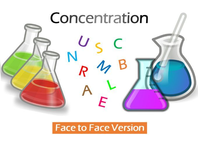 Solution Concentration Game (Face to Face Version)