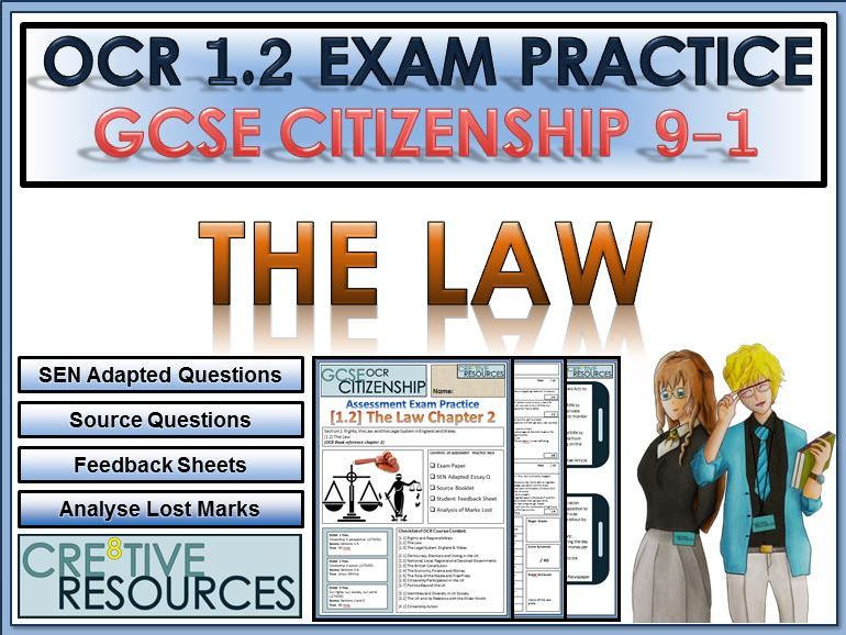 9-1 Citizenship OCR GCSE Exam Assessment: The Law