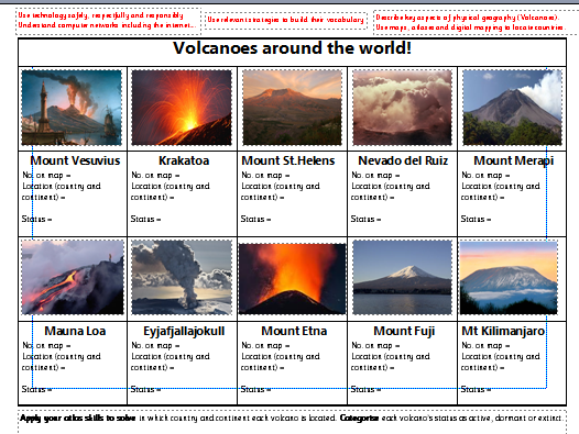 What is a volcano?  Volcanoes around the world.