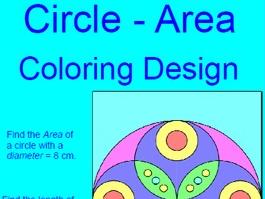 CIRCLES:  AREA OF CIRCLES COLORING ACTIVITY # 1