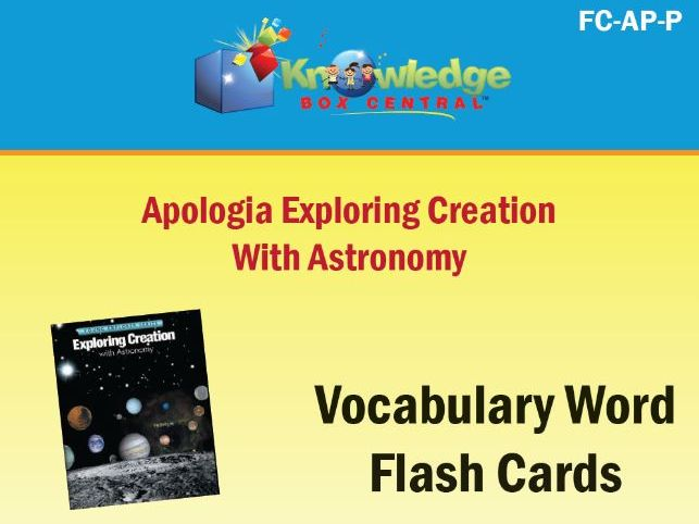 Apologia Exploring Creation with Astronomy Vocabulary Flash Cards