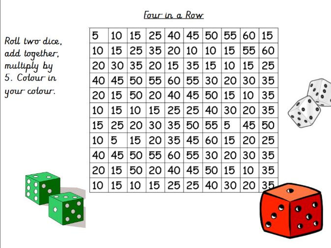 5 Times Tables Activities