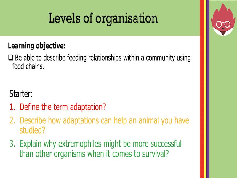 AQA GCSE Biology - Levels of organisation