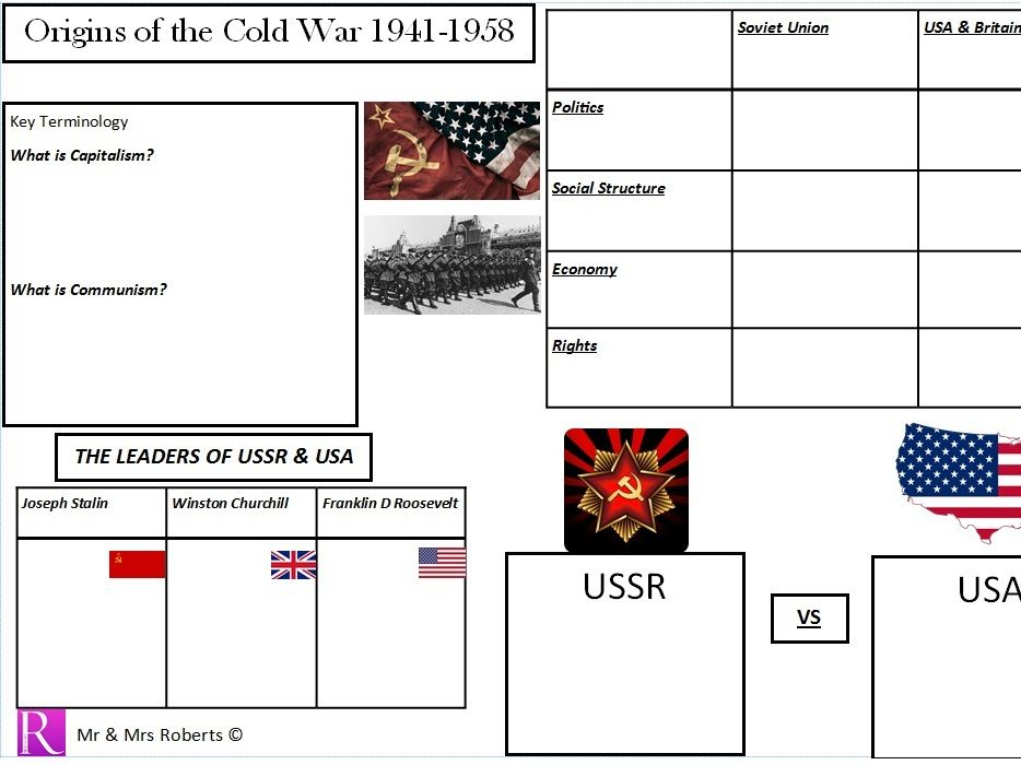 Edexcel GCSE History - Superpower relations & the Cold War - Topic 1.1 - Origins