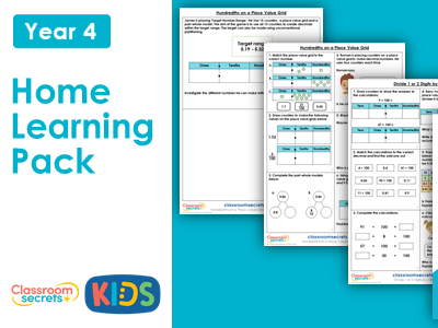 Year 4 Spring Week 12 Home Learning Maths Pack