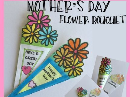 Mother's Day Crafts - Flower Bouquet - One Page Folding Wonder