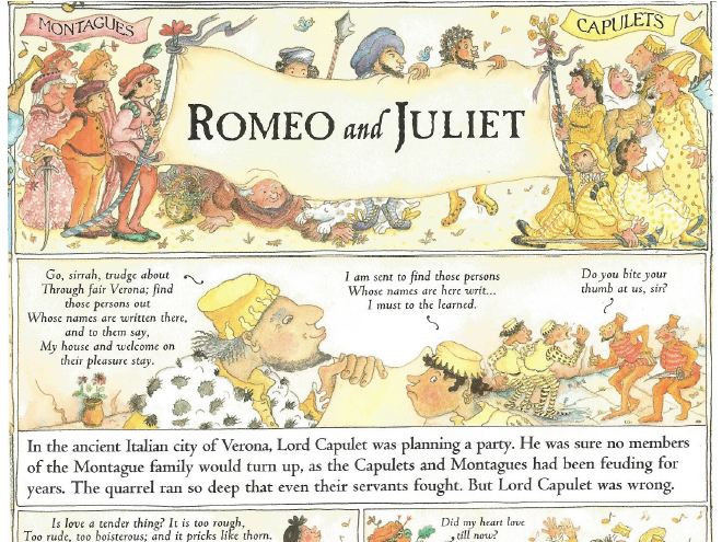 Romeo and Juliet by Marcia Williams Comprehension KS2