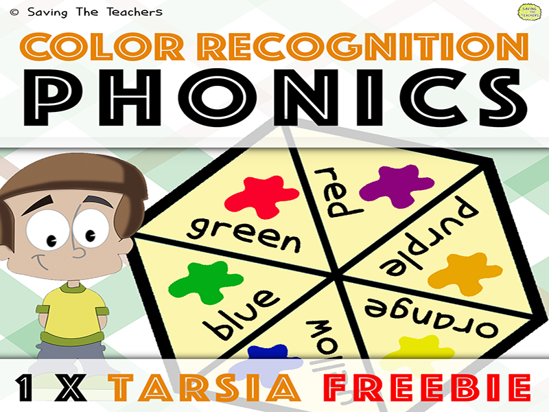 Tarsia Puzzle: Match The Colour - Phonics - Reading