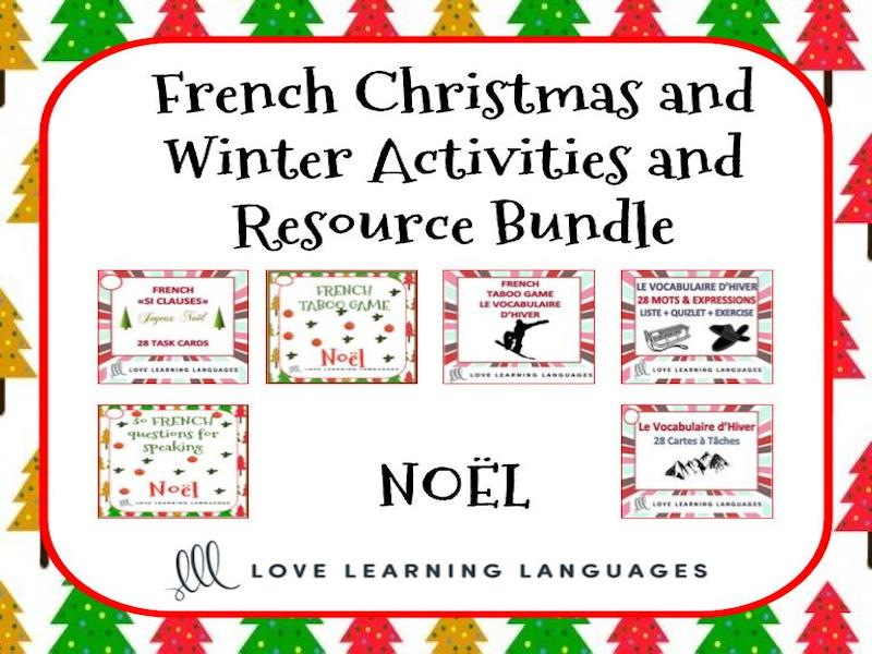 Noël et le Vocabulaire d'Hiver BUNDLE - French Christmas and Winter Activities
