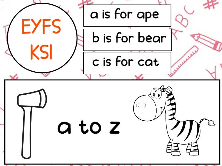 Alphabet Printable Worksheets EYFS KS1