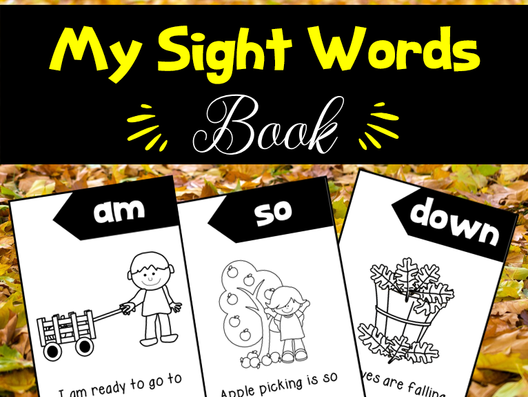 My Autumn Sight Words Book
