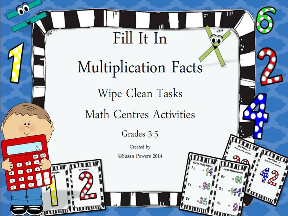 Mulitplication Wipe Clean Math Boards Multiples & Factors