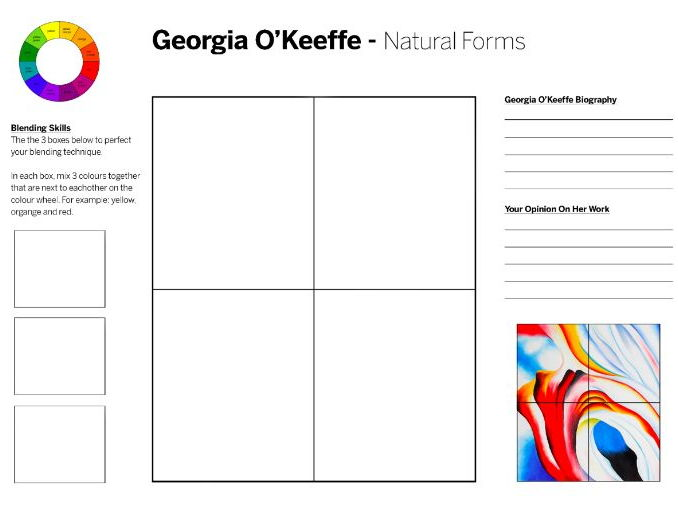 Georgia O'Keefe - Drawing from Nature and Colour Theory