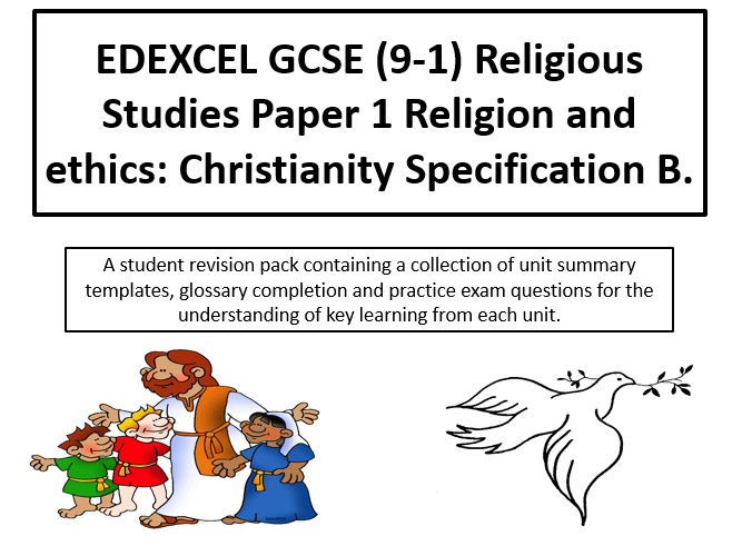 EDEXCEL GCSE (9-1) RE Paper 1 Religion and ethics: Christianity  student revision activity pack