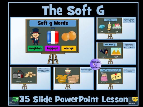 Soft G Sound and Soft G Words: PowerPoint Lesson